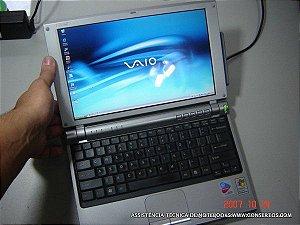 Assistência Técnica Notebook Sony Vaio VGN-T340P, efetuamos manutenção, troca de peças e formatação