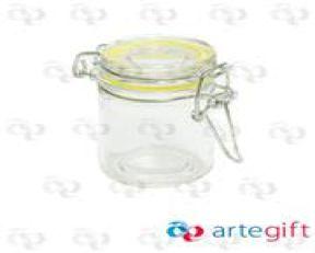 Mini Pote Hermético com Tampa Amarela 45ml