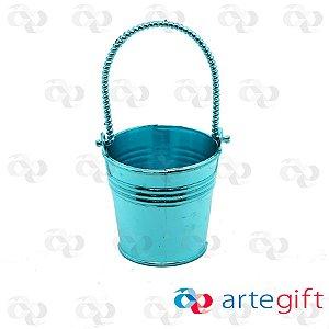 Baldinho com Alça Metalizado Azul