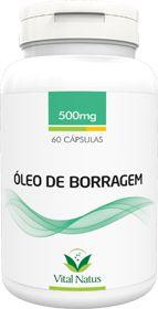 ÓLEO DE BORRAGEM 500mg c/ 60 cápsula