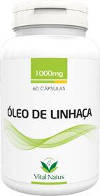 ÓLEO DE LINHAÇA 1g c/ 60 cápsulas - Vital Natus