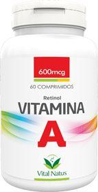 VITAMINA A (Retinol) 600mcg c/ 60 comprimidos - Vital Natus