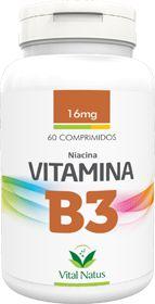 VITAMINA B3 (Niacina) 16mg c/ 60 comprimidos - Vital Natus