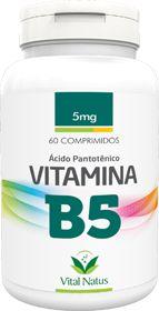 VITAMINA B5 (Ácido pantotênico) 5mg c/ 60 comprimidos - Vital Natus