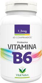 VITAMINA B6 (Piridoxina) 1,3mg c/ 60 comprimidos - Vital Natus