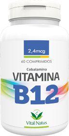 VITAMINA B12 (Cobalamina) 2,4mcg c/ 60 cápsulas - Vital Natus