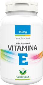 VITAMINA E (Tocoferol) 10mg c/ 60 cápsulas - Vital Natus