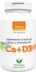 CÁLCIO + VITAMINA D3  500mg c/ 120 Cápsulas - Vital Natus