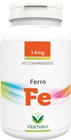 FERRO QUELATO 14mg c/ 60 comprimidos - Vital Natus
