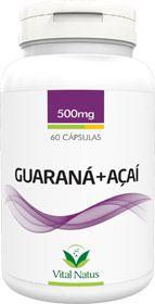 GUARANÁ + AÇAÍ 500mg c/ 60 cápsulas