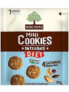 Mini Cookie Orgânico Integral Diet 4 Castanhas Brasileiras - 120g