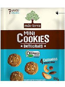 Mini Cookie Orgânico Integral 4 Castanhas Brasileiras - 120g
