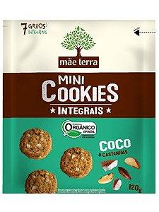 Mini Cookie Orgânico Integral Coco e Castanha do Pará - 120g