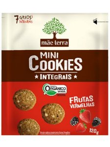 Mini Cookie Orgânico Integral Frutas Vermelhas - 120g