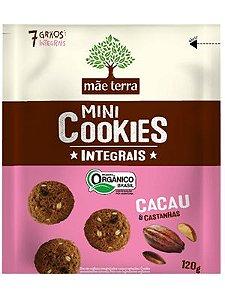 Mini Cookie Orgânico Integral Cacau e Castanhas - 120g