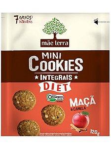 Mini Cookie Orgânico Integral Diet Maçã e Canela - 120g