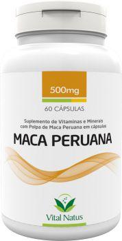 MACA PERUANA 500mg c/ 60 cápsulas - Vital Natus