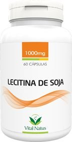LECITINA DE SOJA 1g c/ 60 cápsulas - Vital Natus