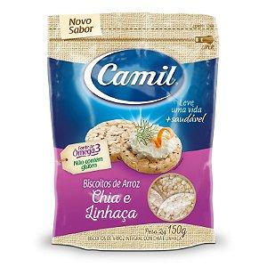 Biscoito de Arroz, Chia e Linhaça 150g - Camil