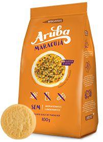 Biscoito Sem Glúten e Sem Lactose Sabor Maracujá - 100g - Aruba