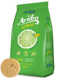 Biscoito Sem Glúten e Sem Lactose Sabor Limão - 100g - Aruba