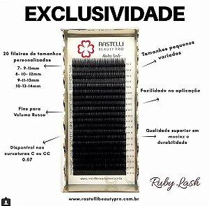Cílios Ruby (kim kardashian) Mix Luxo - Curvatura C - 0,07