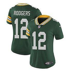 Jersey  Camisa Green Bay Packers Feminina - Aaron Rodgers #12