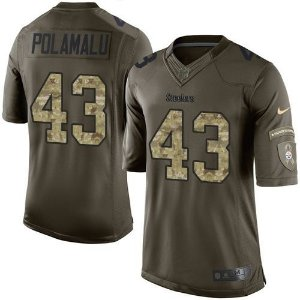 Jersey  Camisa Pittsburgh Steelers- POLAMALU #43 Salute to Service