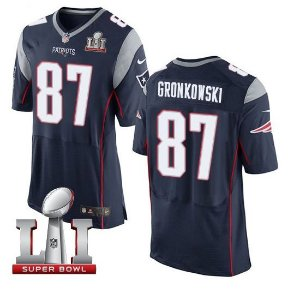 Jersey  Camisa New England Patriots Rob Gronkowski #87  Elite Super Bowl LI