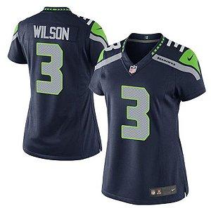 Jersey  Camisa Seattle Seahawks Russell WILSON# 3 feminina