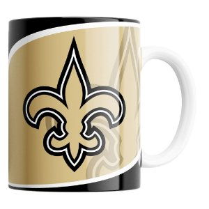 CANECA NFL NEW ORLEANS SAINTS DE PORCELANA 325ML