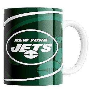 CANECA NFL NEW YORK JETS DE PORCELANA 325ML