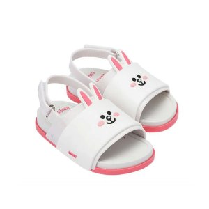 Sandália Mini Melissa Beach Slide Sandal + Line Friends BB