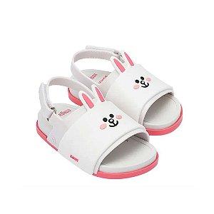 Sandália Mini Melissa Beach Slide Sandal + Line Friends BB