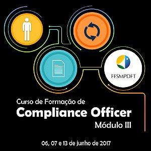 Curso de Formação de Compliance Officer - Módulo III