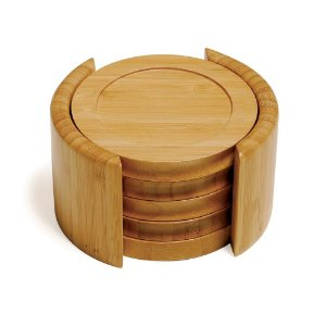 Conjunto Porta-Copos em Bambu - Mônaco (5 peças)