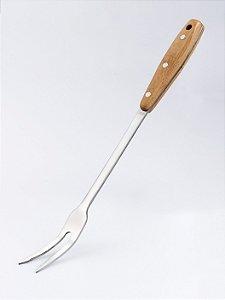 Garfo em Aço Inox/Cabo em Bambu - 35 cm