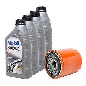 Kit troca de óleo Mobil 20W50 Mineral + Filtro de óleo