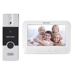 """Vídeo Porteiro Hikvision DS-KIS202 Painel Externo + Monitor 7"""""""