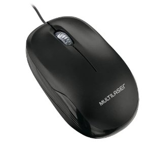 Mouse Multilaser Box Optico Com Fio Preto USB MO255 1200dpi 3botoes