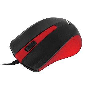 Mouse Ótico C3tech MS-20RD Vermelho 1000dpi USB