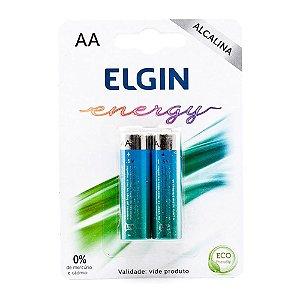 Pilha Alcalina Elgin AA 1.5V Blister Com 2 Unidades