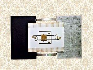 Quadro Decorativo Tela Retangular Preto e Cinza
