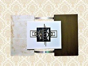 Quadro Decorativo Tela Retangular Palha e Verde