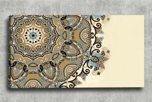 Quadro Decorativo Digital 55x100 Mandala Bege