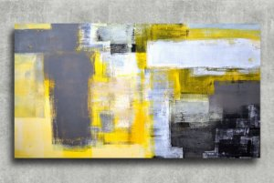 Quadro Decorativo Digital 55x100 Abstrato QDA03