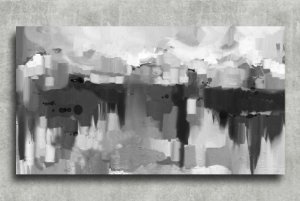 Quadro Decorativo Digital 55x100 Abstrato QDA04