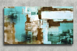 Quadro Decorativo Digital 55x100 Abstrato QDA05