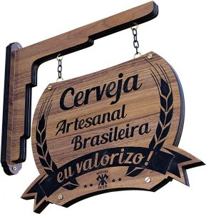 Placa decorativa Cerveja Artesanal Brasileira