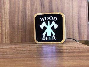 Luminária Wood and Beer